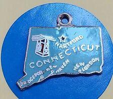 E126 Connecticut State Map Sterling Silver Vintage Bracelet Charm