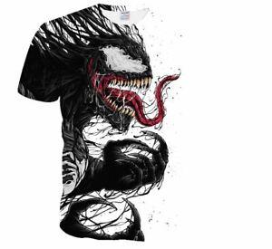 Venom Marvel T Shirts, Venum, 3D Print Casual Fitness Metallica T Shirts, Cool