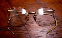 Antique Vtg 12kgf Gold Filled Wire Round Spectacle Gandhi Lennon Eye Glasses