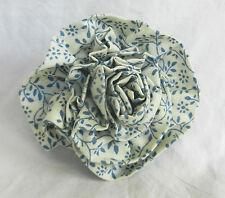 HAND MADE Blu & Bianco a Fiori Cotone Rose Spilla/Occhiello-NUOVO