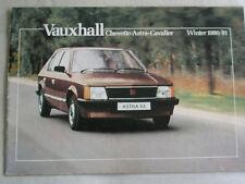 Vauxhall range brochure Winter 1980/81 Chevette, Astra Cavalier