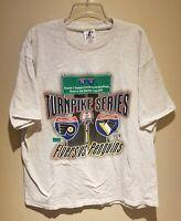 VTG 2000 Flyers Vs Penguins Stanley Cup Playoffs T-Shirt XL Turnpike Series Logo