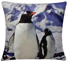 Chenille Algodón Pingüino Estampado Cubierta Cojín cuadrado de 17 X 17 para sofá cama sofá