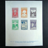 Austria 1918 WWI for prisoner-of-war stamp Sheet that were not executed Unissued