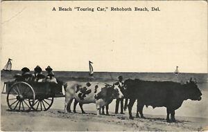 PC US, DE, REHOBOTH BEACH, TOURING CAR, Vintage Postcard (b32200)