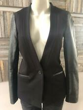 Madewell Black Blazer Leather Sleeves Size 2 Must Have Classic