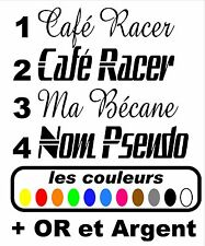 Stickers autocollant réservoir moto café racer / bobbers / scrambler / custom