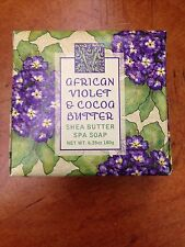 GREENWICH BAY SOAP/NEW AFRICIANVIOLET & COCA BUTTER SHEA BUTTER SPA SOAP 6.35 OZ