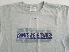 Vintage NIKE Kansas State University KSU Wildcats T-shirt 2-Sided Men's Large YH