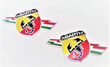 GENUINE Abarth Fiat 124 Spider  NEW PAIR LH & RH Front Wing Fender Badge Emblems