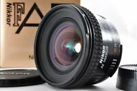 Near mint Nikon AF 20mm f2.8 D Wide Angle AF w/ Box Caps From Japan F/S #2645