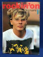 Rockin'on January 1984 Japan Magazine Duran Duran U2 Jackson Browne Wham XTC