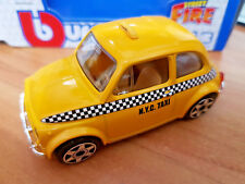 Fiat 500 NYC Taxi New York Yellow Cab - Die Cast 1:43 - BBurago New in Box