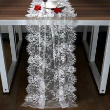 300cm White Lace Table Runner Floral Table Cloth Boho Wedding Favor Home Textile