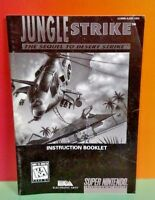 Jungle Strike  -  SNES Super Nintendo - Instruction MANUAL ONLY - No Game