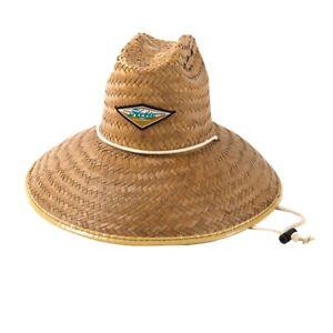 HOBIE Hasslehoff Lifeguard Hat #5042 - Adjustable Chin Cord, Straw Hat