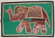 Recycled Fabric Patchwork Elephant Indian Wall Hanging 92 x 62.5 cm (PW4)