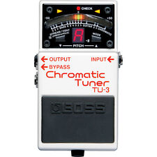 BOSS TU-3 Chromatic Tuner Guitar Bass Bypass Pedal w/ Drop Tuning Support
