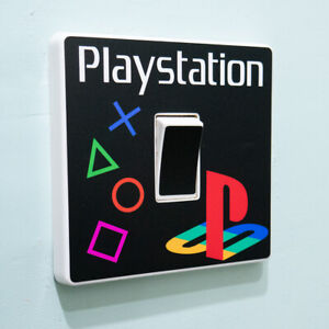 Retro PlayStation Light Switch Vinyl Sticker Man Cave Arcade Gaming Room Decor
