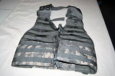 USGI MOLLE II LOAD BEARING VEST FIGHTING LOAD CARRIER FLC LBV TACTICAL ACU CAMO