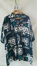 Vintage Men's Hawaiian Shirt Koko Knot Xxl 100% Rayon Floral Button Down