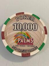 PALMS $10,000 POKER NCV Casino Chip Las Vegas Nevada 3.99 Shipping