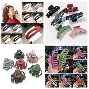Women Large Frosted Hair Claw New Acrylic Geometric Hairpin Multicolor Hair Clip