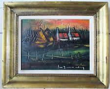 Stefaan Tessely, paneel, 40 x 30, Hoeve met Hooimijten