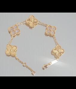 Four Leaf Clover 18k Gold platted Bracelete