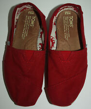 Womens TOMS Red Flats Shoes Size 5.5