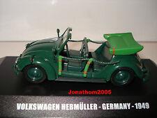 VICTORIA VEHICULE MILITAIRE VOLKSWAGEN HEBMÜLLER GERMANY 1949  au 1/43°