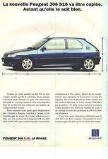 PUBLICITE ADVERTISING  1995   PEUGEOT 306     LA S16  elle va etre copiée !!!!!!