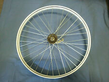 Vintage Bicycle 26 x 2.125 White Wheel Pinstripe Komet Super Coaster Brake 60's