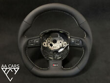 Steering Wheel AUDI A4 B7 S4 RS4 A4 B8 S6 Flat Bottom extra THICK Leather