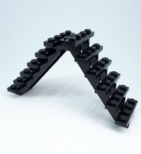 Lego 2 x Black Stairs / Staircase - Six Steps 30134 Castle Ladder City A42