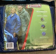 3 Pc Coat, Pants, Hood Coleman  Rainsuit Blue Size Adult X Large NEW.