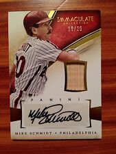 2014 Panini Immaculate Collection MIKE SCHMIDT Autograph Card # 18/25