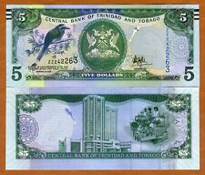 Trinidad and Tobago, 5 dollars, 2006 (2017), P-New, UNC > ZZ REPLACEMENT