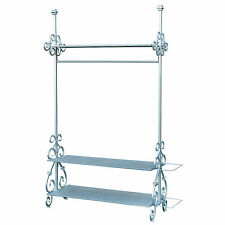 Ornate Vintage Style Silver Bedroom Hall Shop Display Stand Coat Clothes Rail