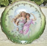 Hand Painted Plate Victorian Maidens By V. E. Erickson Collection  Twelve Inches