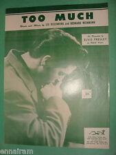 Elvis Presley Too Much 1956 sheet music Lee Rosenberg  Bernard Weinman