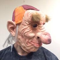 Hoggle Mask Halloween 80's Labyrinth Latex Costume Fancy Dress Goblin Troll