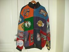 Jeff Hamilton BEST NBA Team Logos East & West Conference Leather Jacket 5XL