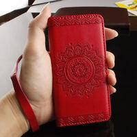 Sac téléphone Neuf portable Flower Flip Cover Case Housse/étui de Wallet Coque