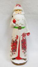 "Tall Santa / St. Nicholas w/ Tree - Christmas Holiday Decor Figurine 17"""