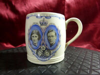 Vintage King George VI + Queen Elizabeth 1937 Wedgwood CORONATION CUP Royal Mug