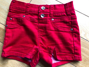 Justice red shorts w/ double button (sz 10)