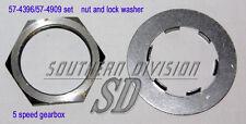 Triumph 5 Speed Gearbox 57-4396 Nut Sprocket 57-4909 lockwasher piñón madre
