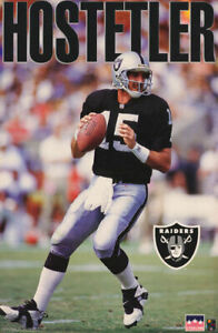 Jeff Hostetler Los Angeles Raiders Quarterback 1993 Vintage Original POSTER