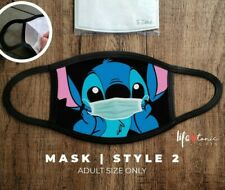 Stitch Lilo Face Mask 063 | Funny Mask | Cartoon Disney Mask | Double Layer Mask